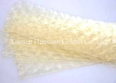 China 8 0- 260 Bloom Unflavored Leaf Gelatin Sheets Food Additives For Making Bakery factory