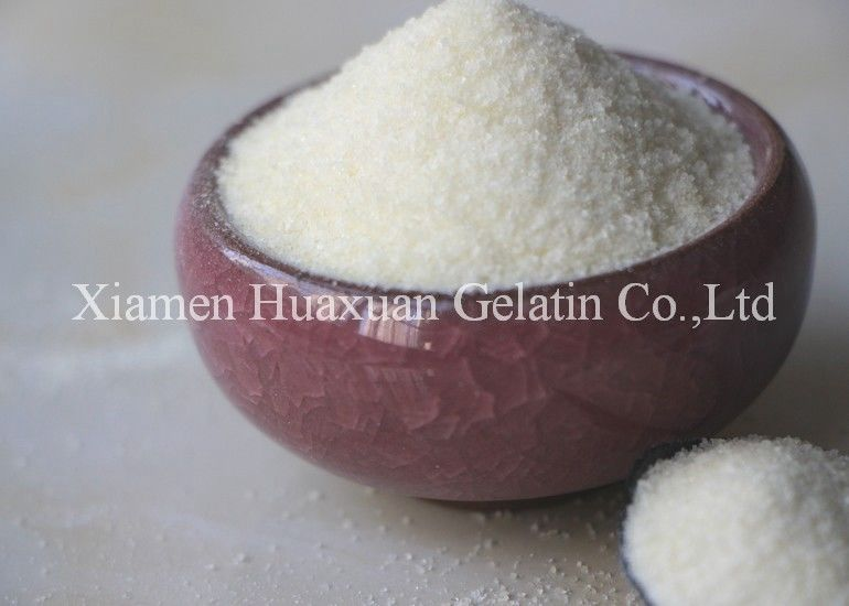 Halal certified fish collagen odorless gelatin 80 - 300Bloom candy, beer drink, cake, cheese and dairy products, etc supplier