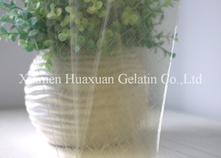 Food Ingredients Leaf Gelatin Sheets 120 - 160 Bloom For Cakes Ice cream Jelly supplier