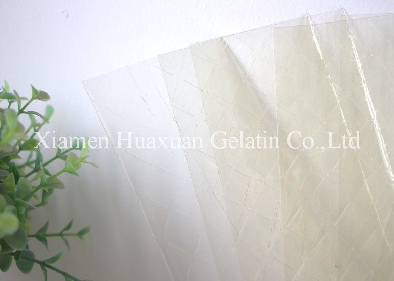 High Purity Gelatine Leaves Raw Material Of Making Cheese And Pudding supplier